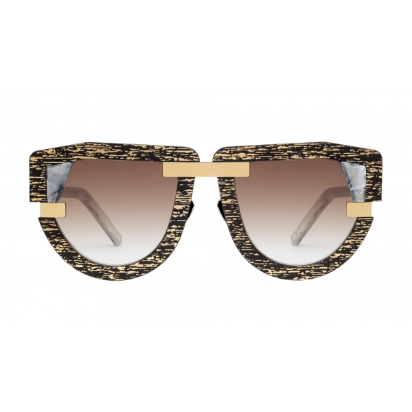 Potrait Eyewear - Interface Gold and Marble (C.08) - Sunglasses - Handmade in Italy - Exclusive Luxury Collection