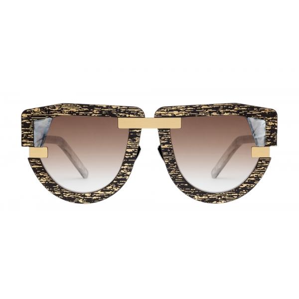 Potrait Eyewear - Interface Oro e Marmo (C.08) - Occhiali da Sole - Realizzati a Mano in Italia - Exclusive Luxury Collection
