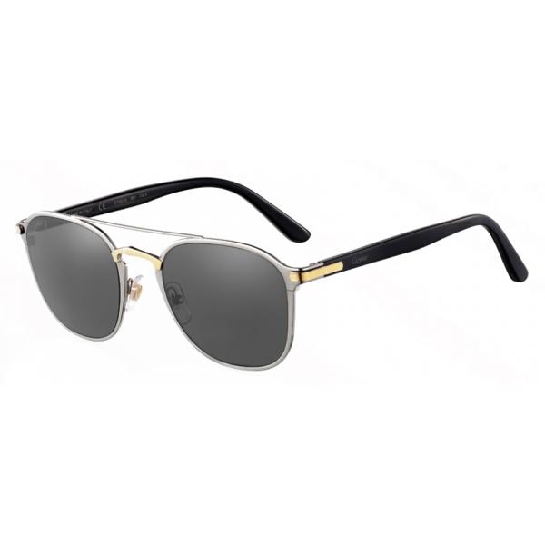 Cartier - Rettangolare - Finitura Nero Champagne Oro - C de Cartier Collection - Occhiali da Sole - Cartier Eyewear