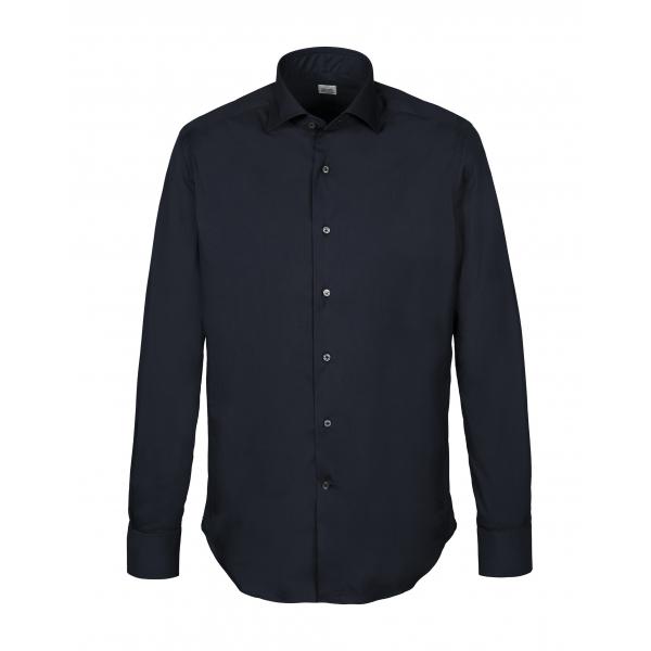 Alessandro Gherardi - Camicia a Manica Lunga - Blu Scuro - Camicia - Handmade in Italy - Luxury Exclusive Collection