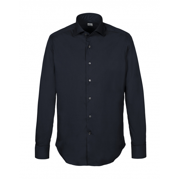 Alessandro Gherardi - Long Sleeve Shirt - Dark Blue - Shirt - Handmade in Italy - Luxury Exclusive Collection