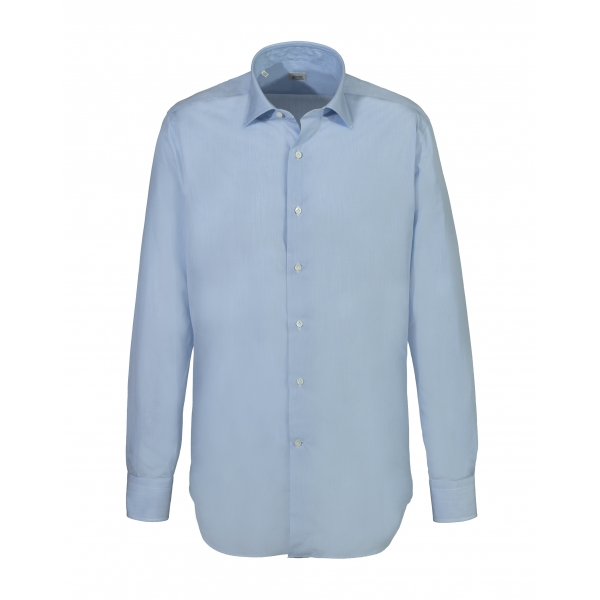 Alessandro Gherardi - Long Sleeve Shirt - Heavenly on White - Shirt - Handmade in Italy - Luxury Exclusive Collection
