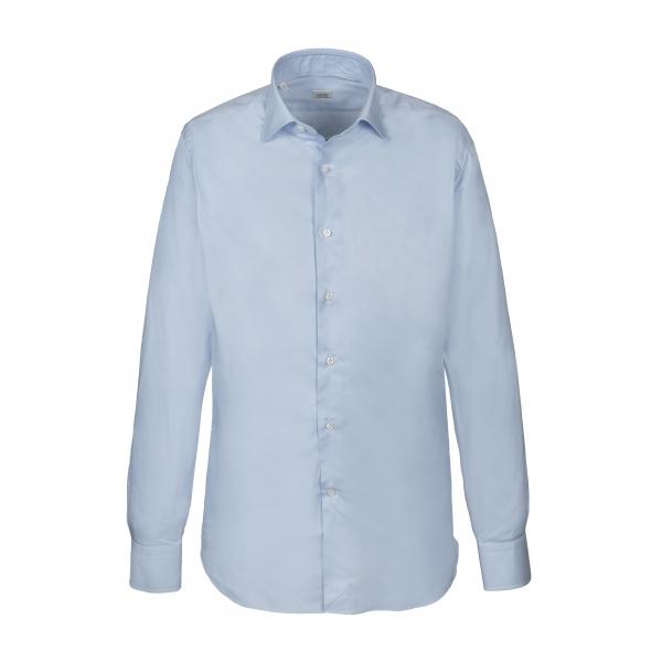 Alessandro Gherardi - Camicia a Manica Lunga - Celeste - Camicia - Handmade in Italy - Luxury Exclusive Collection