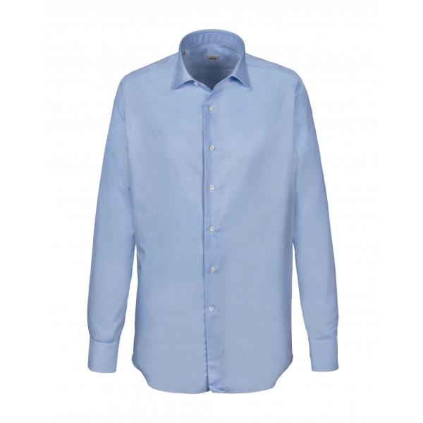 Alessandro Gherardi - Camicia a Manica Lunga - Azzurro - Camicia - Handmade in Italy - Luxury Exclusive Collection