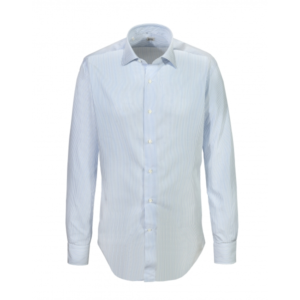 Alessandro Gherardi - Long Sleeve Shirt - Heavenly Stripe - Shirt - Handmade in Italy - Luxury Exclusive Collection