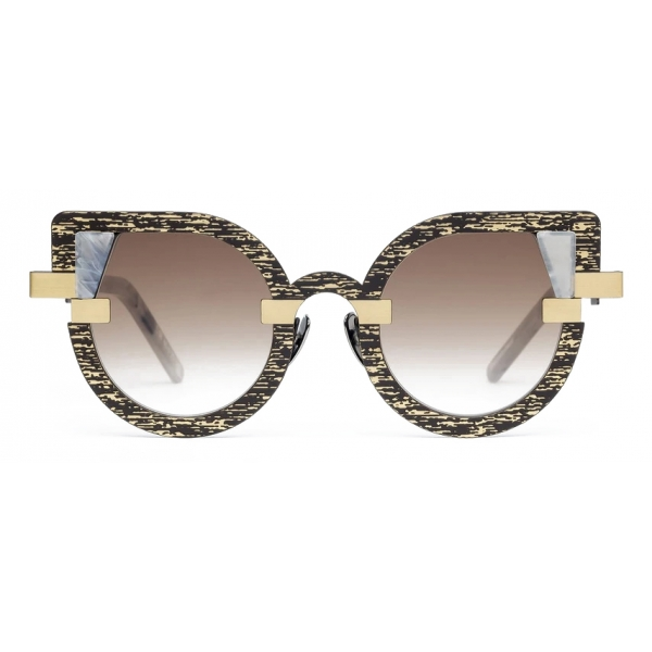 Potrait Eyewear - Charlotte Gold and Marble (C.08) - Sunglasses - Handmade in Italy - Exclusive Luxury Collection