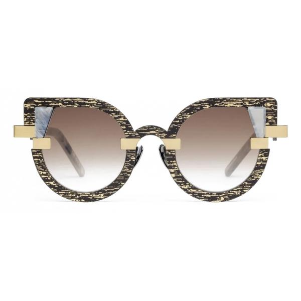 Potrait Eyewear - Charlotte Oro e Marmo (C.08) - Occhiali da Sole - Realizzati a Mano in Italia - Exclusive Luxury Collection