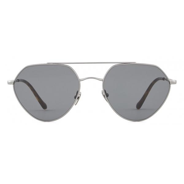 Giorgio Armani - Irregular Shape Sunglasses - Gunmetal Smoke - Sunglasses - Giorgio Armani Eyewear