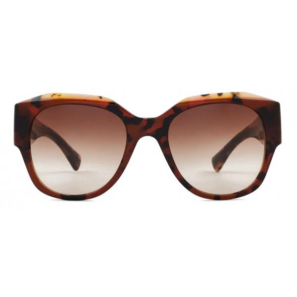 Giorgio Armani - Occhiali da Sole Donna Forma Squadrata - Havana Marrone - Occhiali da Sole - Giorgio Armani Eyewear