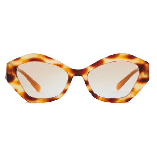 Giorgio Armani - Irregular Shape Women Sunglasses - Honey Havana - Sunglasses - Giorgio Armani Eyewear