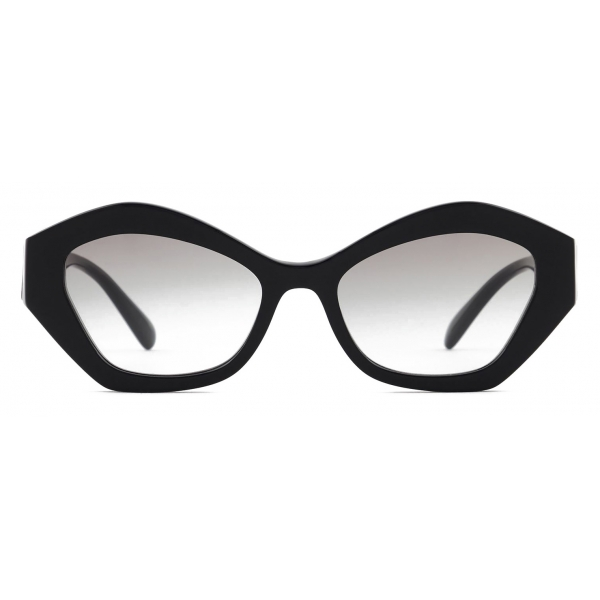 Giorgio Armani - Irregular Shape Women Sunglasses - Black Grey - Sunglasses - Giorgio Armani Eyewear