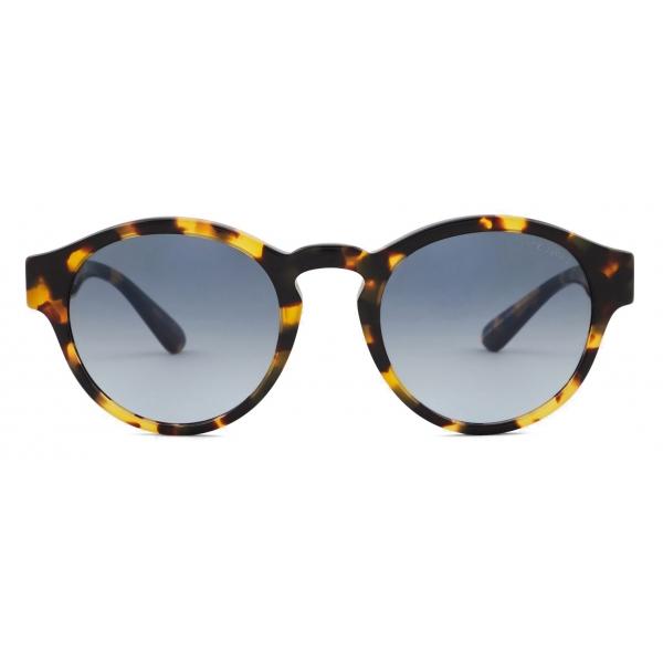 Giorgio Armani - Occhiali da Sole Donna in Materiale Sostenibile - Giallo Havana - Occhiali da Sole - Giorgio Armani Eyewear