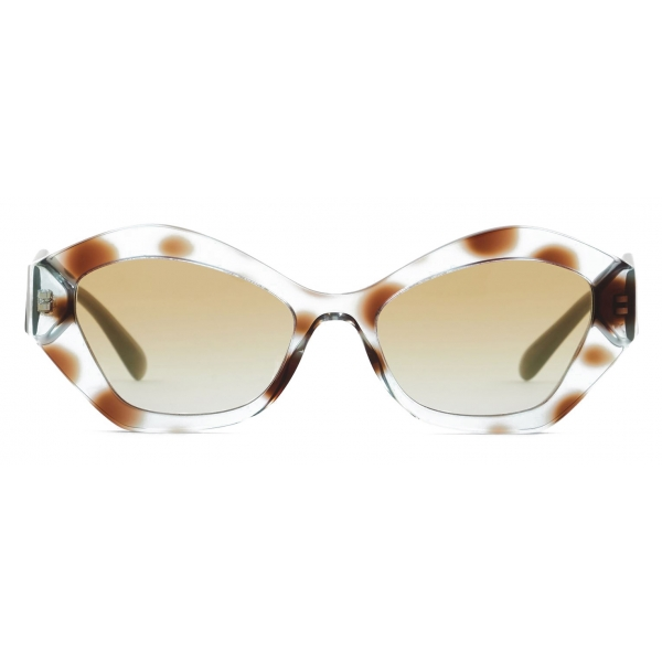 Giorgio Armani - Irregular Shape Women Sunglasses - Havana Tundra Green - Sunglasses - Giorgio Armani Eyewear