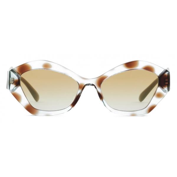 Giorgio Armani - Occhiali da Sole Donna Forma Irregolare - Havana Tundra Verde - Occhiali da Sole - Giorgio Armani Eyewear