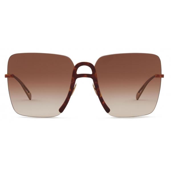 Giorgio Armani - Occhiali da Sole Donna Oversize Forma Squadrata - Havana - Occhiali da Sole - Giorgio Armani Eyewear