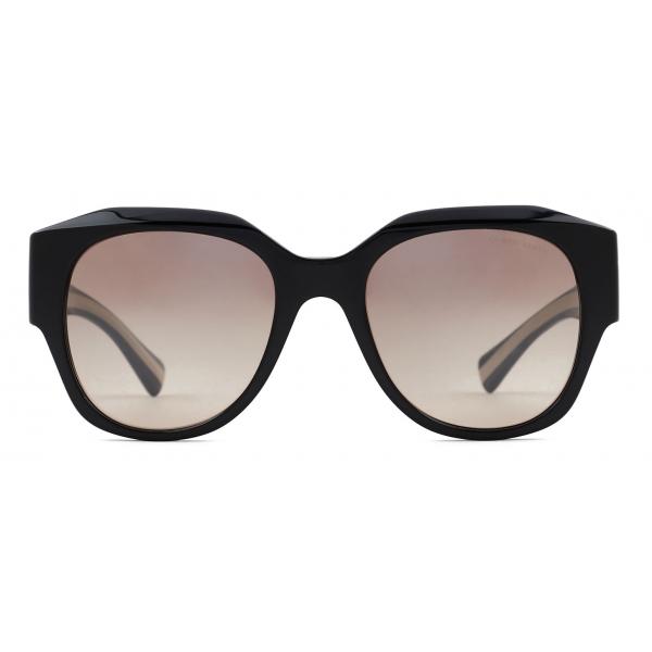 Giorgio Armani - Occhiali da Sole Donna Forma Squadrata - Nero Marrone - Occhiali da Sole - Giorgio Armani Eyewear