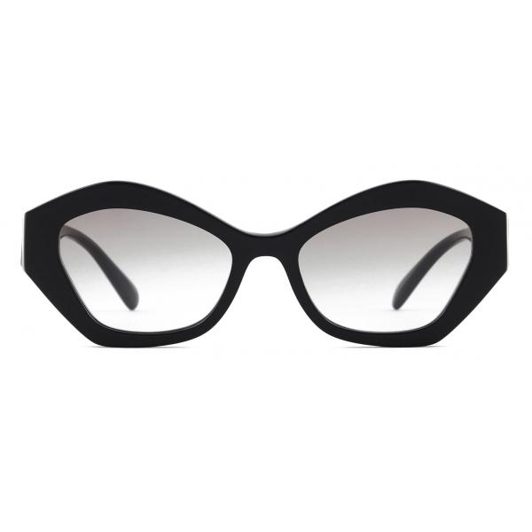 Giorgio Armani - Occhiali da Sole Donna Forma Irregolare - Nero Grigio - Occhiali da Sole - Giorgio Armani Eyewear