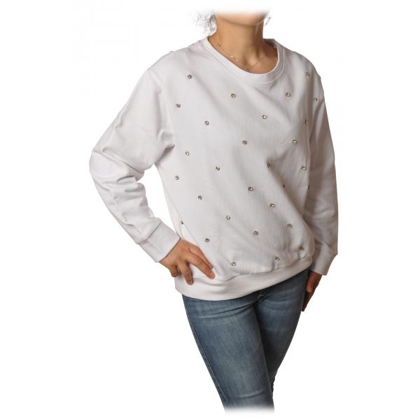 Ottod'Ame - Oversized Sweatshirt with Bezel - White - Sweatshirt - Luxury Exclusive Collection