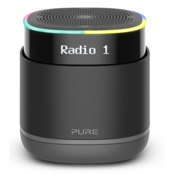 Pure - StreamR - Charcoal - Portable Smart Radio with Bluetooth and One-Touch Alexa - High Quality Digital Radio