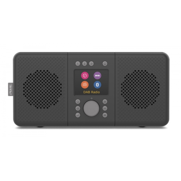 Pure - Elan Connect+ - Charcoal - Stereo Internet Radio with DAB+ and Bluetooth - High Quality Digital Radio