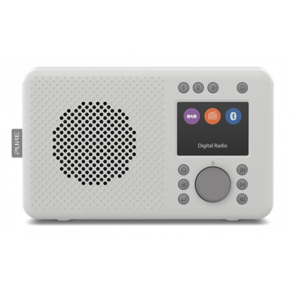 Pure - Elan DAB+ - Stone Grey - Portable DAB+ Radio with Bluetooth - High Quality Digital Radio