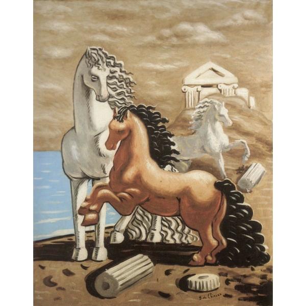 Exclusive Art - Giorgio De Chirico - Two Horses - Installation