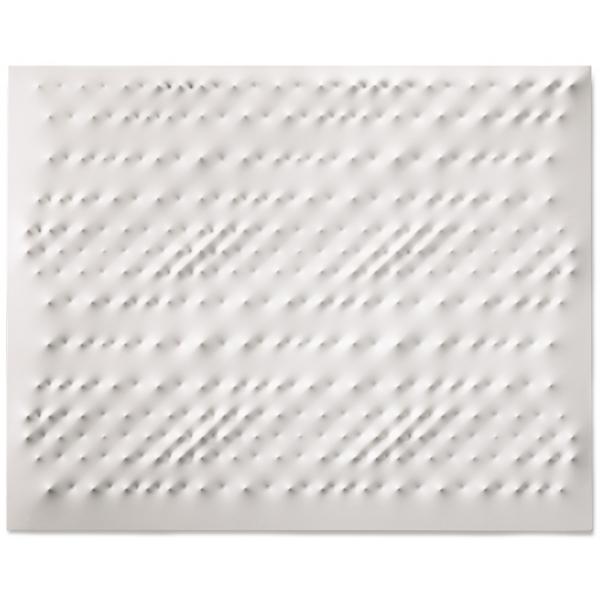 Exclusive Art - Enrico Castellani - White Surface - Installation