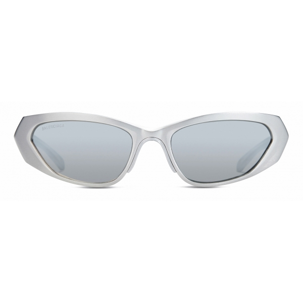 Balenciaga - Metal Rectangle Sunglasses - Silver - Sunglasses - Balenciaga Eyewear