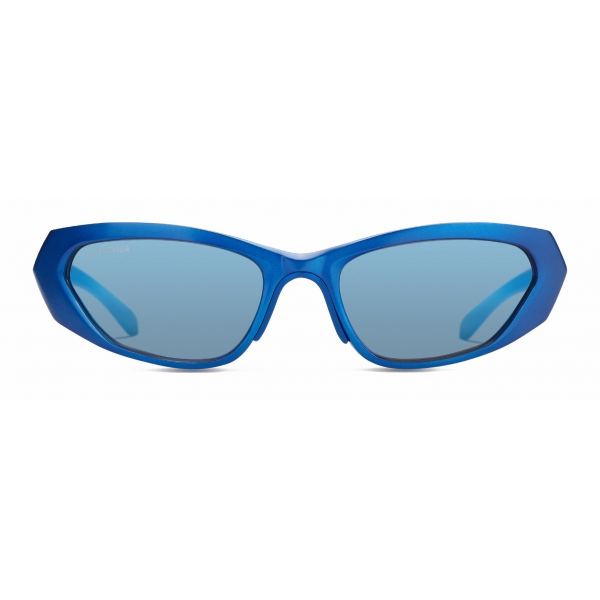 Balenciaga - Metal Rectangle Sunglasses - Blue - Sunglasses - Balenciaga Eyewear