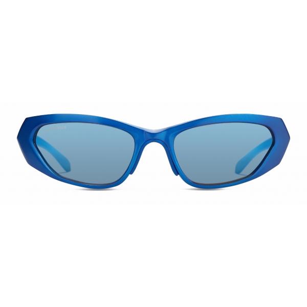 Balenciaga - Occhiali da Sole Metal Rectangle - Blu - Occhiali da Sole - Balenciaga Eyewear