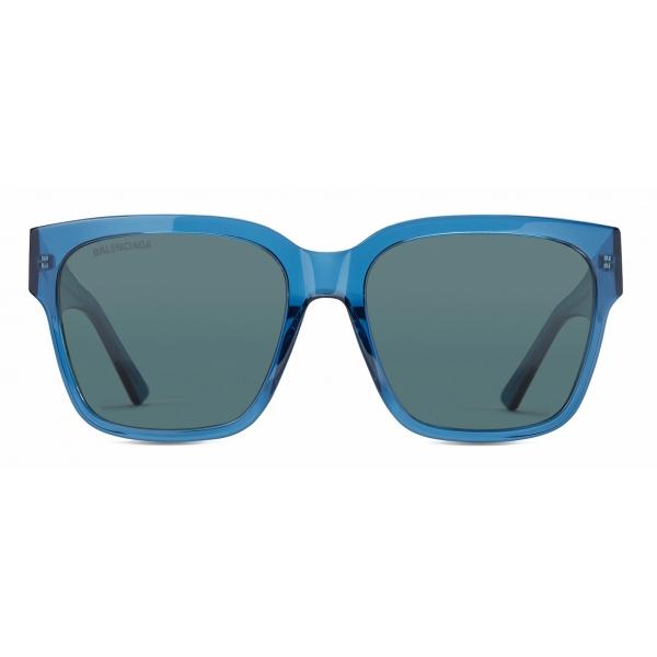 Balenciaga - Flat-D Frame Sunglasses - Blue - Sunglasses - Balenciaga Eyewear