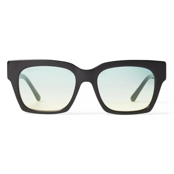 Jimmy Choo - Jo - Black Acetate Square-Eye Sunglasses with Gold JC Logo - Jimmy Choo Eyewear