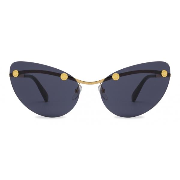Moschino - Rimless Sunglasses with Studs - Dark Grey - Moschino Eyewear