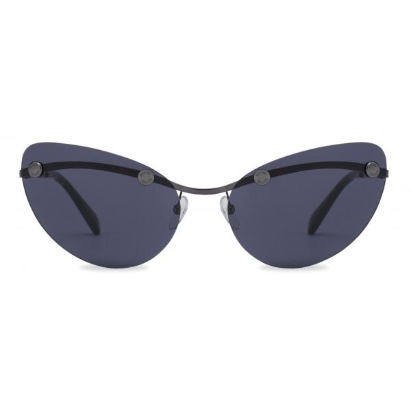 Moschino - Rimless Sunglasses with Studs - Black - Moschino Eyewear