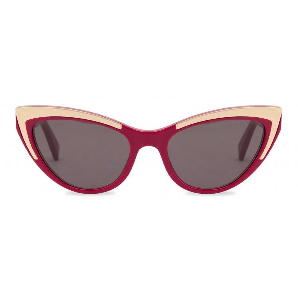 Moschino - Cat Eye Gold Details Sunglasses - Red - Moschino Eyewear