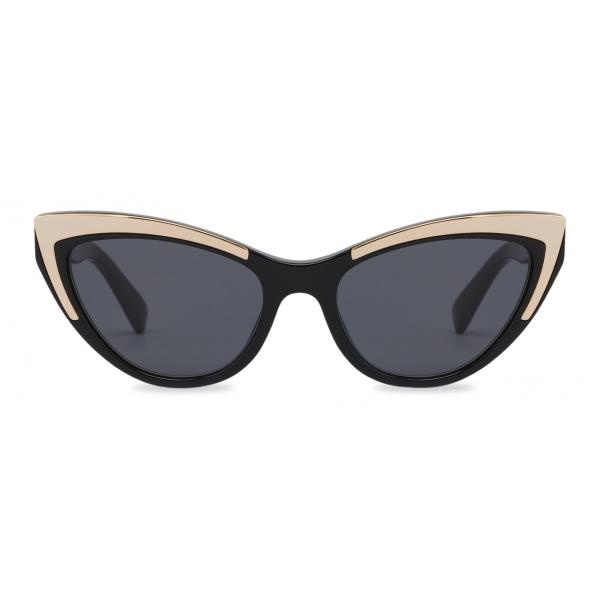 Moschino - Cat Eye Gold Details Sunglasses - Black - Moschino Eyewear