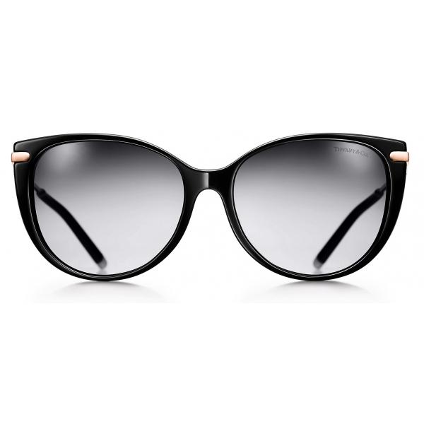 Tiffany & Co. - Occhiale da Sole Cat Eye - Nero Grigio - Collezione Tiffany T - Tiffany & Co. Eyewear