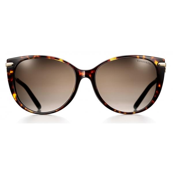 Tiffany & Co. - Occhiale da Sole Cat Eye - Tartaruga Marrone - Collezione Tiffany T - Tiffany & Co. Eyewear