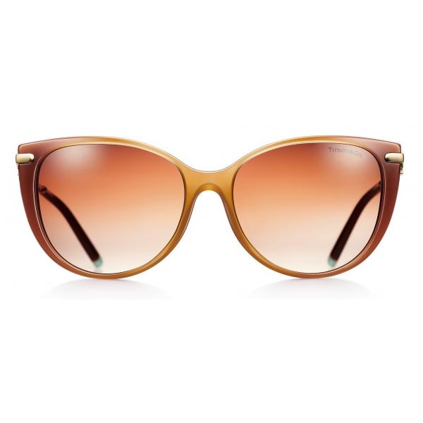 Tiffany & Co. - Occhiale da Sole Cat Eye - Cammello Marrone - Collezione Tiffany T - Tiffany & Co. Eyewear