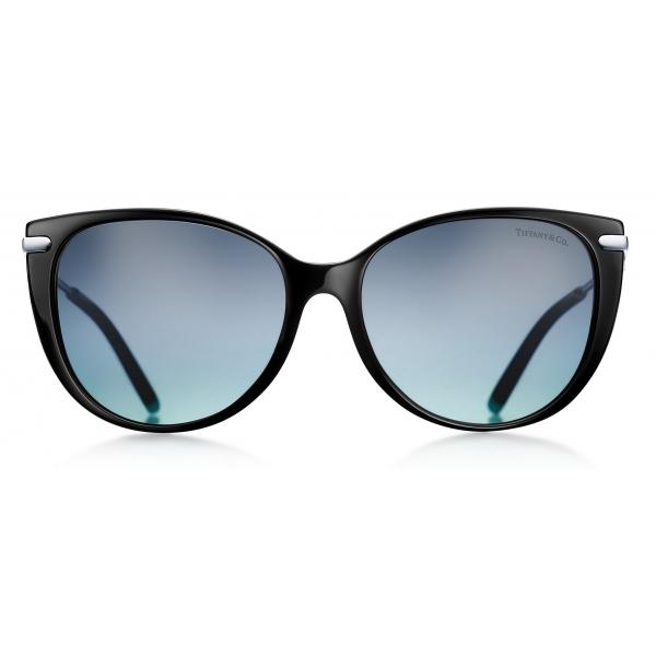 Tiffany & Co. - Occhiale da Sole Cat Eye - Nero Tiffany Blue - Collezione Tiffany T - Tiffany & Co. Eyewear