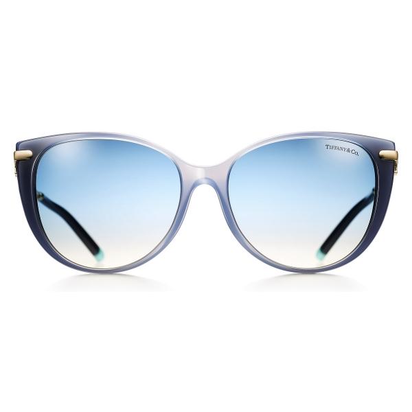 Tiffany & Co. - Occhiale da Sole Cat Eye - Blu - Collezione Tiffany T - Tiffany & Co. Eyewear