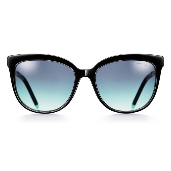 Tiffany & Co. - Occhiale da Sole Cat Eye - Nero Blu - Collezione Tiffany T - Tiffany & Co. Eyewear