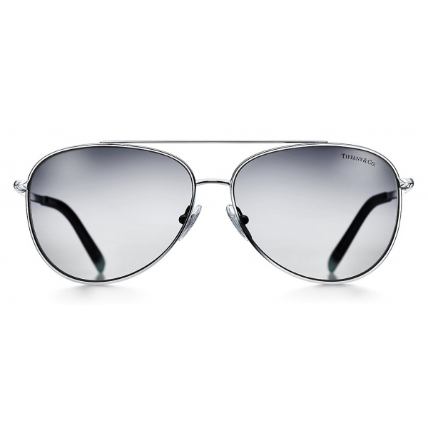 Tiffany & Co. - Occhiale da Sole Pilot - Argento Grigio - Collezione Tiffany T - Tiffany & Co. Eyewear