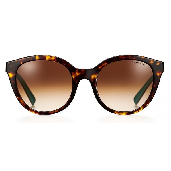 Tiffany & Co. - Occhiale da Sole Panthos - Tartaruga Marrone - Collezione Tiffany T - Tiffany & Co. Eyewear