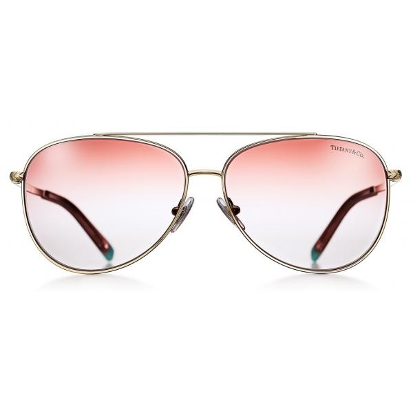 Tiffany & Co. - Occhiale da Sole Pilot - Oro Rosa - Collezione Tiffany T - Tiffany & Co. Eyewear
