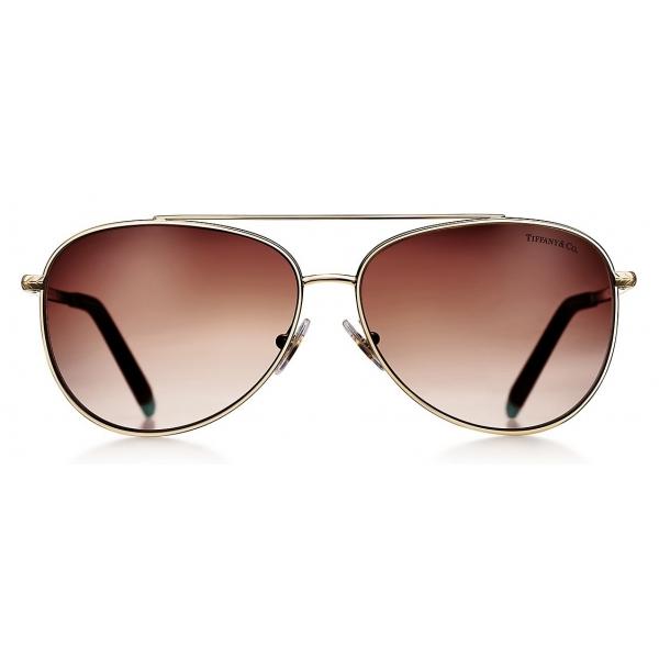 Tiffany & Co. - Occhiale da Sole Pilot - Tartaruga Marrone - Collezione Tiffany T - Tiffany & Co. Eyewear