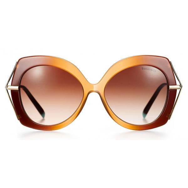 Tiffany & Co. - Occhiale da Sole Butterfly - Cammello Marrone - Collezione Tiffany T - Tiffany & Co. Eyewear