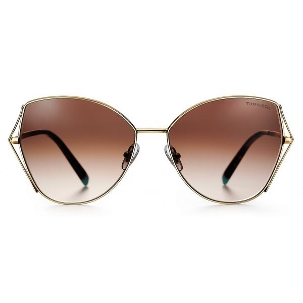 Tiffany & Co. - Occhiale da Sole Butterfly - Oro Marrone - Collezione Tiffany T - Tiffany & Co. Eyewear
