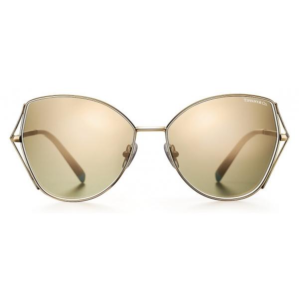 Tiffany & Co. - Occhiale da Sole Butterfly - Oro - Collezione Tiffany T - Tiffany & Co. Eyewear