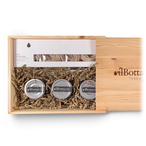 Il Bottaccio - Pasta and Pesto Gift Box - Tuscan Extra Virgin Olive Oil - Gift Ideas - Italian - High Quality